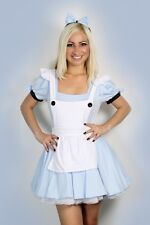 Sexy Halloween Womens Alice in Wonderland Fancy Dress Costume outfit S M L