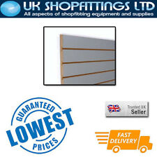 Pack of 8 Pewter 4x4 Slatwall Panels + inserts - New