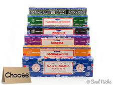 100 Gram Satya Nag Champa Incense Sticks: Sandalwood, Superhit, Patchouli Forest