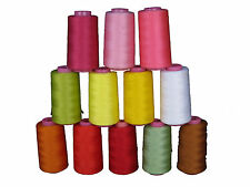 6000 yard Serger thread / Sewing thread / Quilting thread/ 100% Spun Polyester