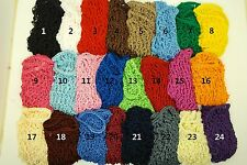 U Pick 3 Soft Rayon Snood Hair Net Crocheted Hair Net
