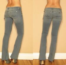 $225 Seven 7 For All Mankind Stud Crystal Hem Flare Jeans Underground 23,24,25