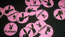 Pre Cut One Inch PINK  PLAYBOY BUNNY  BOTTLE CAP IMAGES!  MUST SEE