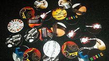 Pre Cut One Inch MUSIC JAZZ GUITAR NOTES BOTTLE CAP IMAGES!  MUST SEE