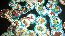 Pre Cut One Inch SCOOBY DOO BOTTLE CAP IMAGES!  MUST SEE