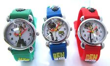 CHILDRENS KIDS BEN 10 3D QUARTZ WRIST WATCH GIFT MANY COLOURS AVAILABLE