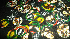 Pre Cut One Inch BOB MARLEY BOTTLE CAP IMAGES!  MUST SEE