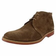 MENS ANATOMIC & CO. SUEDE LACE UP ANKLE BOOTS IN OCRE STYLE - COLORADO