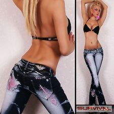 NEW SEXY SZ 6 8 10 12 14 WOMENS DESIGNER LOW RISE BLUE JEANS DENIM CLUBWEAR