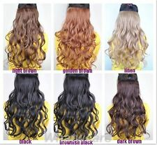 1PCS  Women's long Curl/Curly/Wavy Hair Extension 6 Colors 55cm TB771