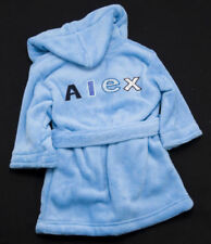 BABY BOYS BLUE PERSONALISED EMBROIDERED DRESSING GOWN