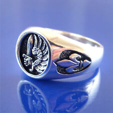French Foreign Legion Ring - Fleur Di Lis Sides - Solid Sterling Silver   (#30)