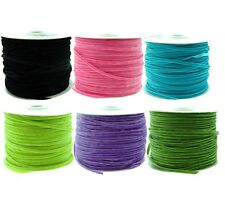 Narrow velvet textured ribbon available in 6 colours, 5 Metres