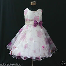 PU3211 Purple Princess Fairytale Party Flower Girls Dresses SZ 2,3,4,5,6,7,8,10Y