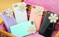 ★★★ CUTE BLING PEARL DECOR DAISY HARD CASE COVER MULTI COLORS ★★ IPHONE 4 4S ★★★