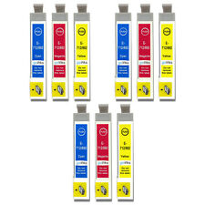 9 C/M/Y Ink Cartridges non-OEM to replace T0712 T0713 T0714 (T0715) Compatible