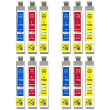 12 C/M/Y Ink Cartridges non-OEM to replace T0712 T0713 T0714 (T0715) Compatible