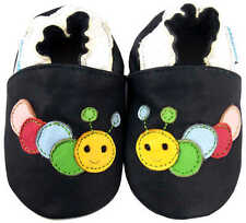 MINIFEET SOFT LEATHER BABY SHOES 0-6, 6-12, 12-18, 18-24 & 24-36 MTH Caterpillar
