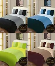 PLAIN LIME BLUE BLACK BROWN SINGLE DOUBLE KING BEDDING DUVET QUILT COVER SET