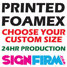 PRINTED FOAMEX BOARD SIGN 3 or 5mm EXHIBITION PANEL CUSTOM SIZE / A0/A1 ANY SIZE