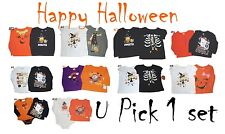 HALLOWEEN SHIRT LOT OF 2 GIRLS NWT TEE T-SHIRTS TOP BABY INFANTS TODDLERS