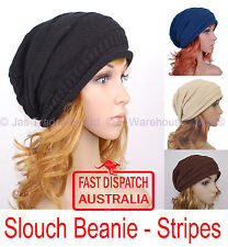 1 Knit Knitted Winter Head Cover Unisex Ladies Men Baggie Baggy Rasta Beanie Hat