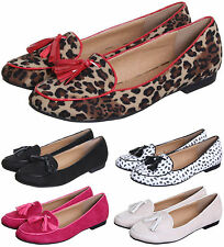 WOMEN'S LADIES FLAT SLIP ON SHOES LOAFERS WITH TASSLES AVAILABLE IN UK 3-8