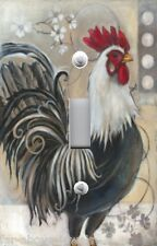 Light Switch Plate Switchplate Cover BLACK AND WHITE FRENCH ROOSTER