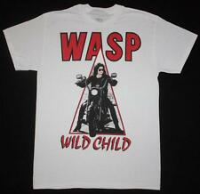 W.A.S.P. WILD CHILD'85 HEAVY METAL BAND WASP TWISTED SISTER NEW WHITE T-SHIRT