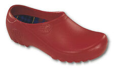 Womens Rubber Chef Garden All Weather Nursing Clogs Shoes Red Sizes Medium