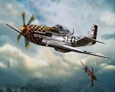 P51 Mustang In Dogfight Art Poster Print New