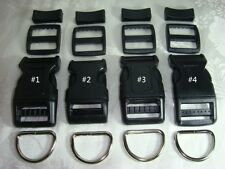 5 Sets, 1'' (25mm) Dog Collar Hardware Kits- 4 Styles choices