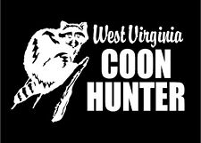 Coon Hunting Decals Coon Hunter Raccoon choose state car truck decal stickers