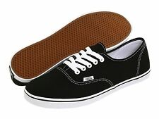 Women Vans Authentic Lo Pro Canvas Black White 100% Original Brand New