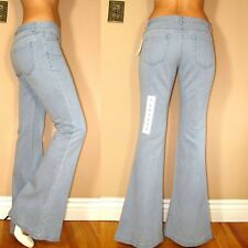 $245 Theory Flare Light Blue Jeans Extra-Soft 100% Cotton Mid Rise 2 6 8 X-Long