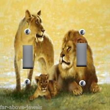 Light Switch Plate & Outlet Covers AFRICAN JUNGLE ANIMALS ~ LION FAMILY