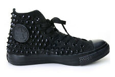 Original Converse All Star black Spike Studded custom ALL BLACK color for unisex