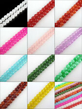 4mm,6mm,8mm,10mm,12mm Glass Round Spacer Beads Charm Jelly 11Colors-1 Or Mixed