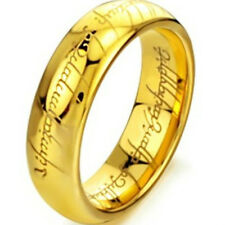 Tungsten Lord of the Rings The One Band Gold Plated Size 7 8 9 10 11 LOTR Rings
