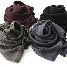 A464 SQUARE Solid SCARF natural plain WOMAN MAN viscose extra soft wrap shawl