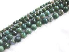 """14mm,12mm,10mm,6mm Army green agate round Gemstone Beads15"""""""