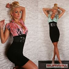 NEW SEXY WOMENS LADIES SIZE 8 10 12 SHORT SLEEVE PARTY CLUB BUSINESS BELT DRESS