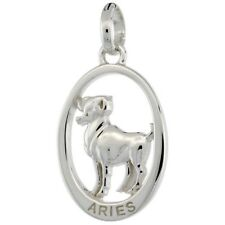 .925, Sterling Silver Flawless Quality ARIES Zodiac Sign Pendant (Mar.21-Apr.19)