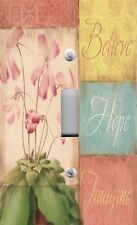 Light Switch Plate Outlet Covers INSPIRATIONAL ~ BELIEVE HOPE IMAGINE Pastels