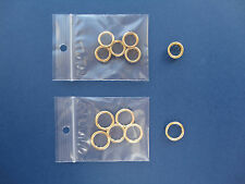 Clock Dial Key Hole BRASS GROMMETS Collets Ø 10mm & 12mm Antique Clock Parts- 5x