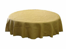 LA Linen Burlap Tablecloth 90-Inch Round. Made in USA