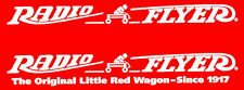 2 Radio Flyer Decals Brand New Durable White Vinyl