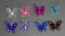12pc 3cm Nylon Artificial Butterfly Wedding Supplies  Decorations Free Shipping