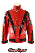 'THRILLER' Men's RED Michael Jackson Style MUSIC Real Leather Jacket
