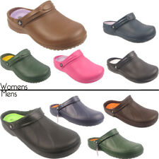 NEW WOMENS MENS GIRLS NURSE HOSPITAL FLIP FLOPS CLOGS SLIPPERS SHOE HEEL UK 3-12